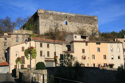 castle ruins above Quillan village
