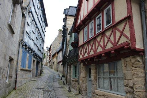 old street in heart of Quimper