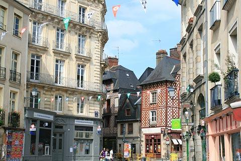 medieval buildings in Rennes city centre