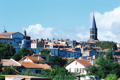 église et centre ville de Riom
