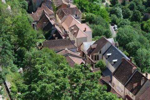 vue sur le village de Rocamadour depuis le Chemin de Croix