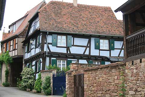 Painted half-timbered houses in Rosheim