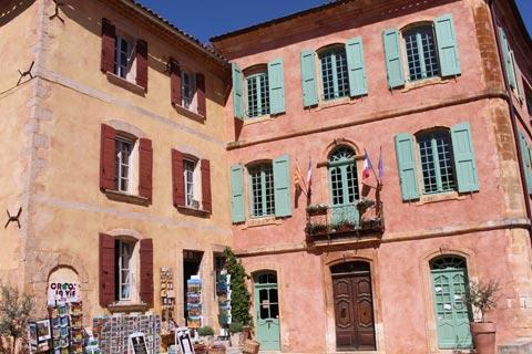 Town Hall in main square in Roussillon