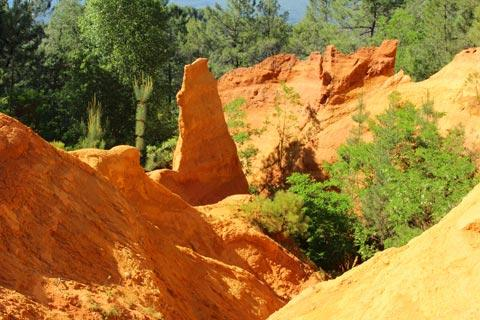 The ochre mines of Roussillon