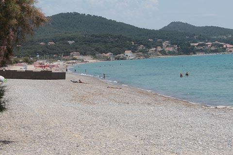 Beach in centre of Saint-Cyr-sur-Mer