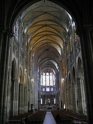 interior nave of Basilica of Saint-Denis