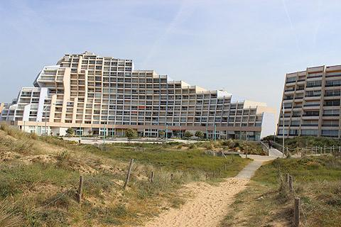apartments along the beach at St Jean-de-Monts