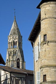 church spire in Saint-Leonard-de-Noblat