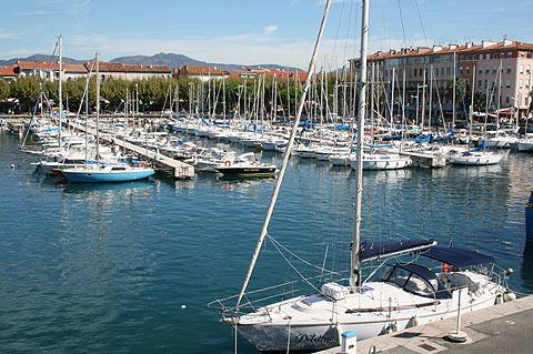 The port in Saint-Raphael