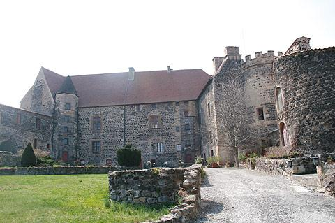 castle and courtyard