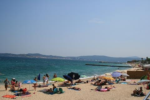 Sainte-Maxime beach