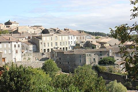 View across the village of Saissac