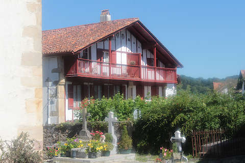 Traditionelle maison basque à Sare