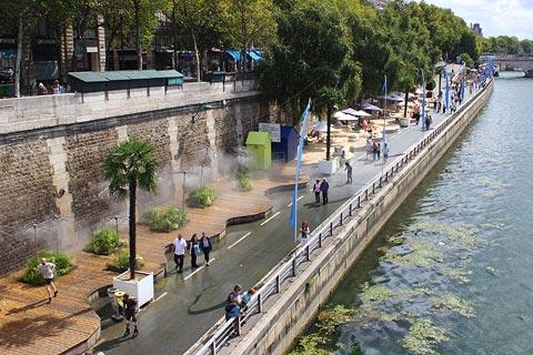 Paris Plages in summer