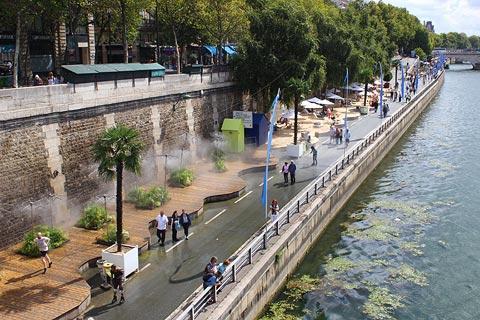 Paris Plages en été
