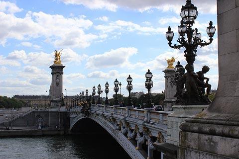 Pont Alexandre III sur la Seine