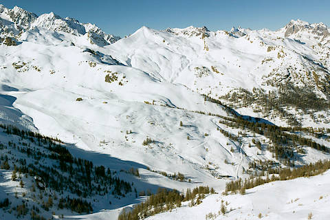 pistes de ski d'hiver de Serre Chevalier