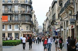 Rue saint Catherine in Bordeaux