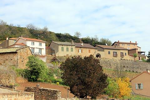 Stone houses in Solutre-Pouilly