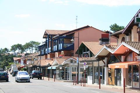 town centre in hossegor
