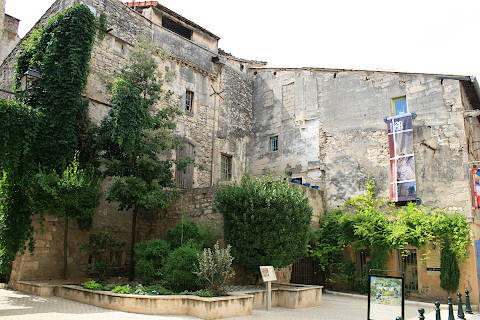 Ancient buildings and courtyard in Saint-Rémy-de-Provence