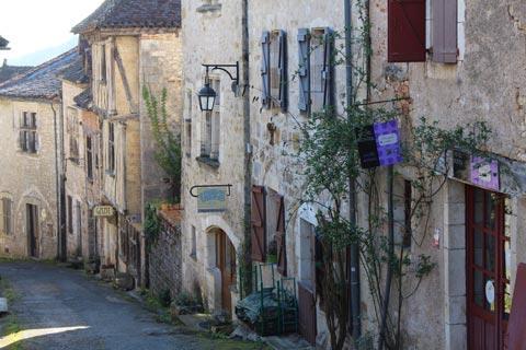 maisons médiévales à Saint-Cirq-Lapopie