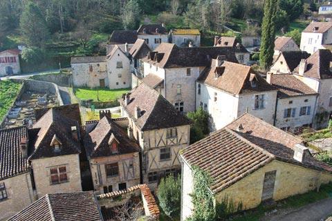 Vue sur les toits du village