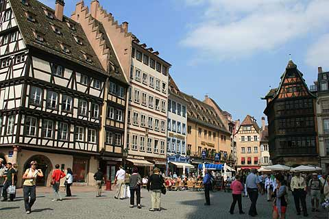 Place de la Cathedral in Strasbourg
