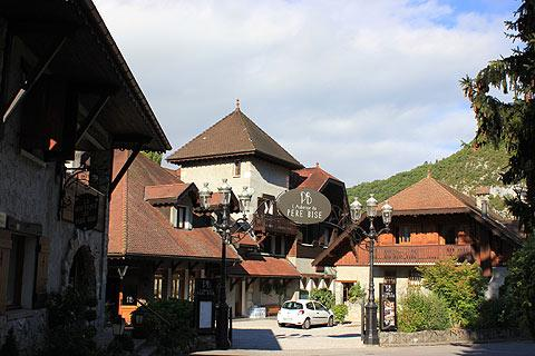 The Hotel Pere-Bise in centre of Talloires