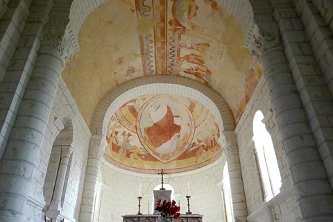 Church frescoes in Tavant
