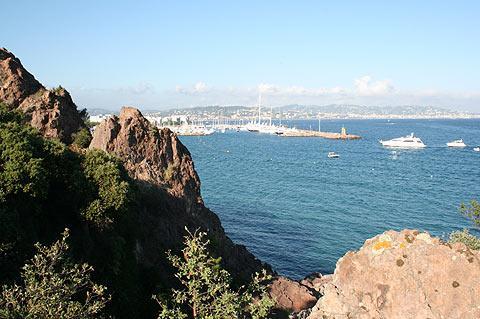vue vers Cannes