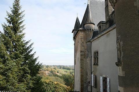 Vue sur la campagne de la Dordogne de Thiviers