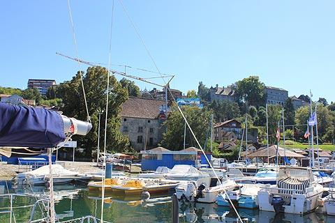 Small port in the centre of Thonon-les-Bains