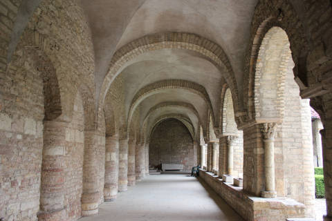cloisters of the abbey in Tournus