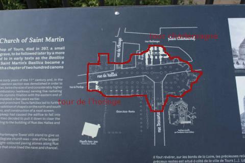 Emplacement de la basilique de Saint-Martin d'origine