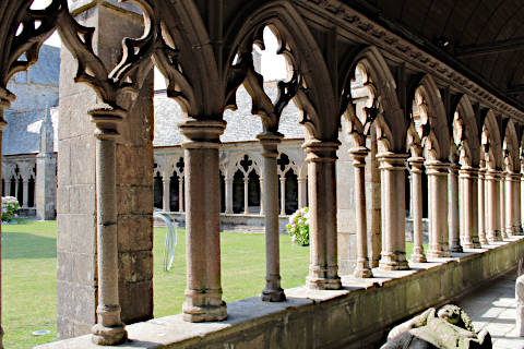 Cloister of Treguier cathedral