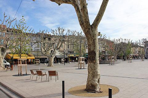 Main square in Vaison la Romaine