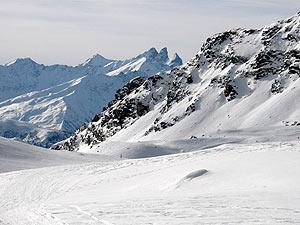 mountains above Val Thorens