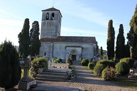 Vue de la basilique de Saint-Just-de-Valcabrère