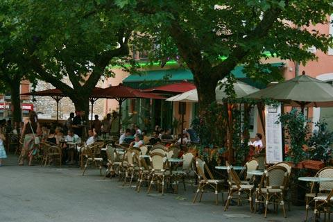 cafe life in Vallon Pont d'Arc