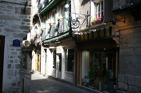 Street of medieval houses in Vannes