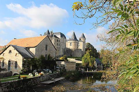 Castle and River at Verteuil sur Charente