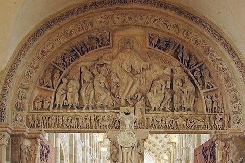 Entrée dans le narthex de la basilique de Vezelay