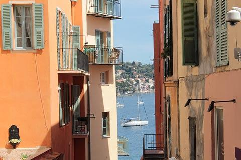 Colourful houses near the sea in Villefranche-sur-Mer