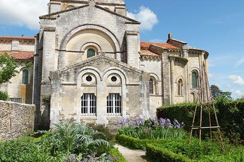 Roman style church and gardens in Vouvant