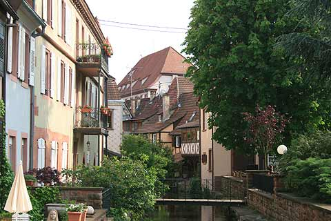 Canal in centre of Wissembourg